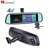 Junsun ADAS 4G DVR Car GPS Navigation Recorder Mirror 7 86 Android With Two Camera Navigator