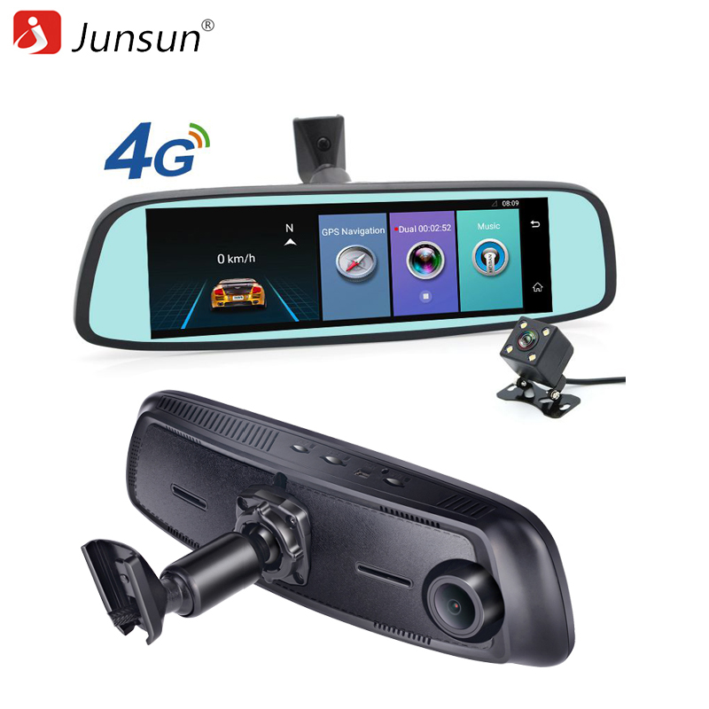 Junsun ADAS 4G DVR Car GPS navigation recorder mirror 7 86 Android with two font b