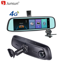Junsun ADAS 4G DVR Car GPS navigation recorder mirror 7.86″ Android with two camera navigator dash cam Registrar black box