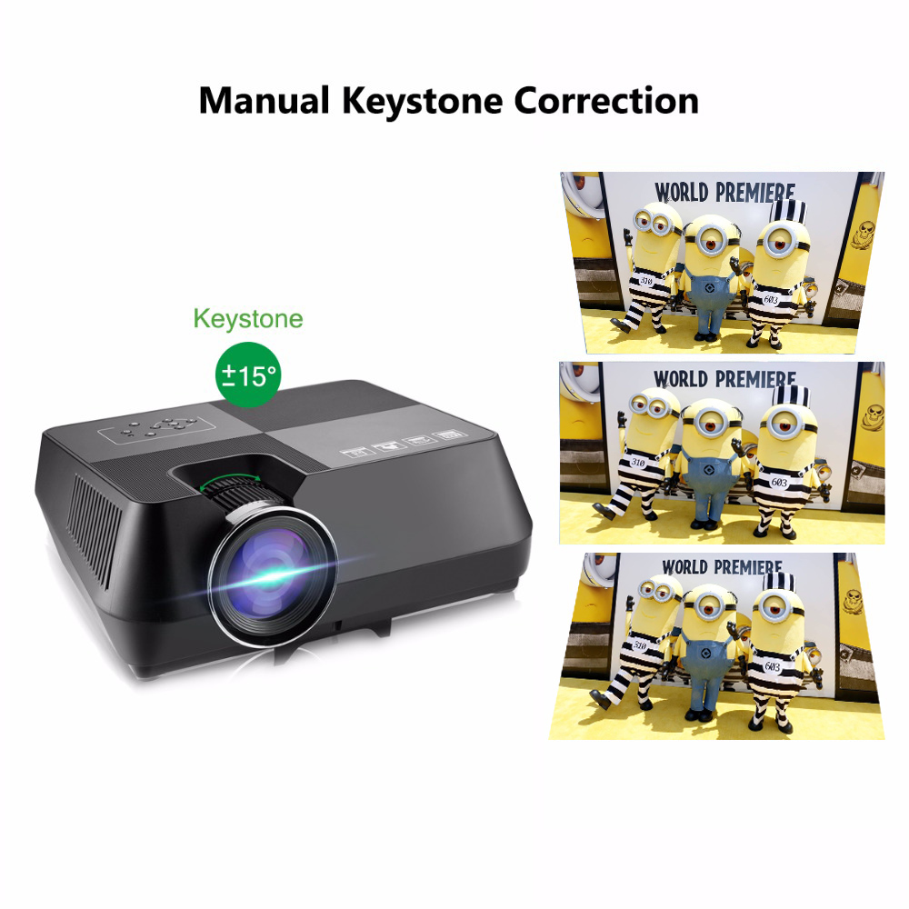 Vivicine V8 V8 Pro Mini LED Projector,800x480p Home Theater HDMI USB VGA WIFI Video Game Proyector Beamer (17)
