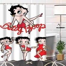 Mejor Niza Personalizada Ecológico Único Betty Boop Tela Moderna Cortina de Ducha de baño Impermeable para ti mismo H0220-103