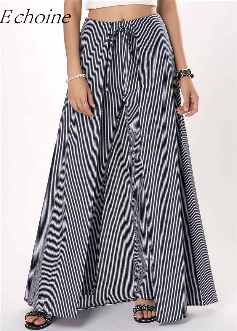 ef3406609a93e Plus size summer Women Wide Leg Dress Pants vintage Female Casual solid  Skirt Trousers Loose 50s Capris Culottes Pocket ZY3365
