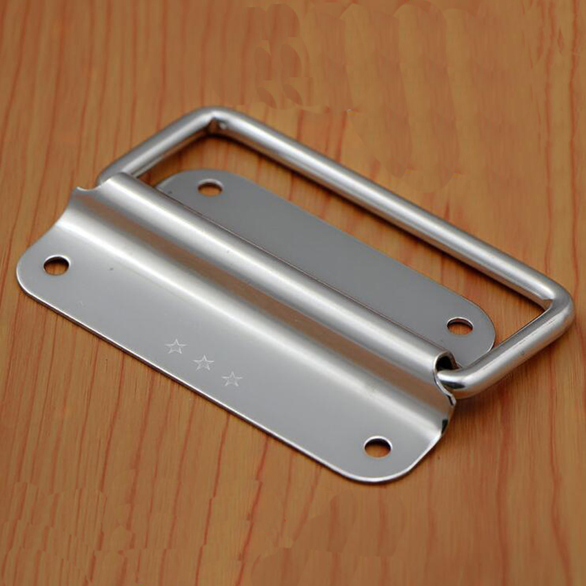 1pcs 304 Stainless Steel Folding Pull Handle For Cabine Kitchen Drawer Door 50/75/100mm Handle Diameter 6mm