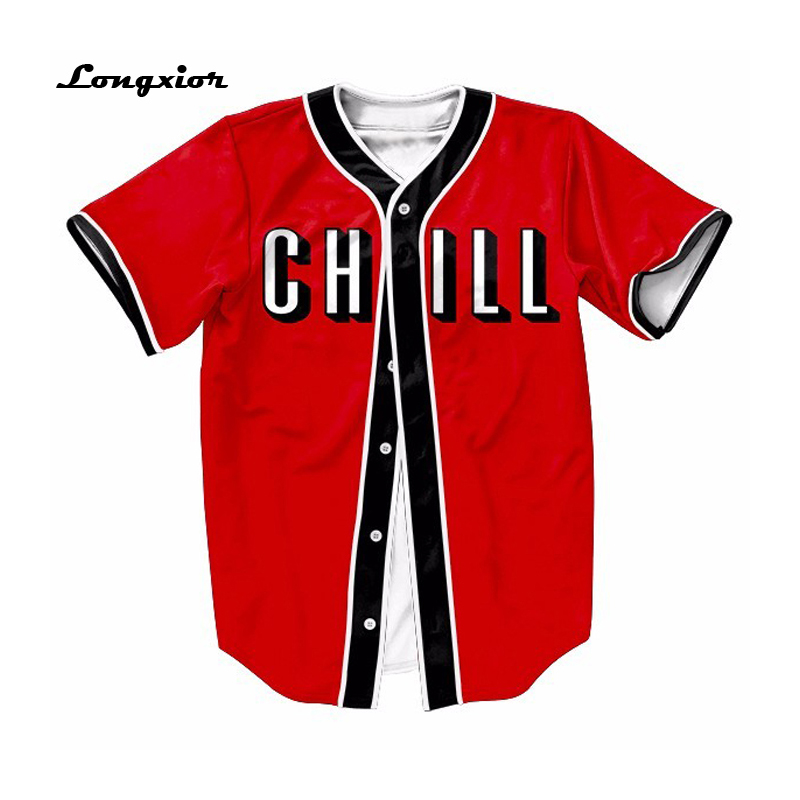 mts129 red mens buttons homme baseball jersey 3d shirt streetwear tees shirts hip hop in t. Black Bedroom Furniture Sets. Home Design Ideas