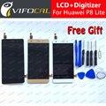 Para huawei p8 lite display lcd + touch screen + ferramentas 100% nova substituição digitador assembléia para huawei ascend celular telefone