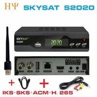 2 CÁI/LỐC SKYSAT S2020 Twin Tuner IKS SKS ACM M3U Xtream-mã H.265 Thu Vệ Tinh ổn định nhất server cho nam Mỹ Euro