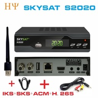 2PCS/LOT SKYSAT S2020 Twin Tuner IKS SKS ACM M3U Xtream code H.265 Satellite Receiver most stable server for South America
