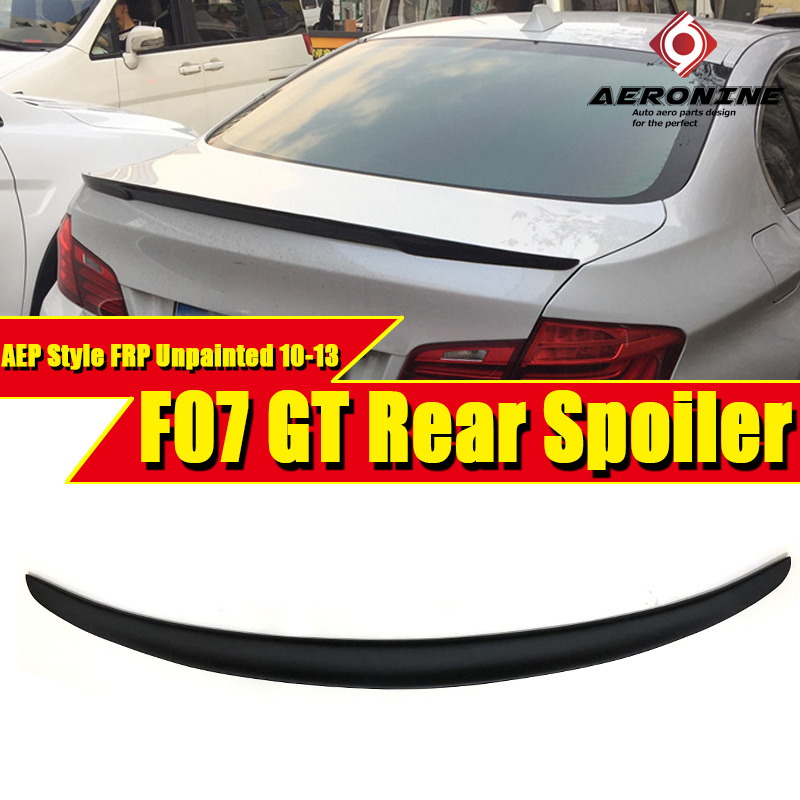 For BMW F07 High Kick Big Trunk Spoiler Wing FRP Unpainted P style 5 series GT 535i 550i 535iGT 550GT wing rear Spoiler 2010 13