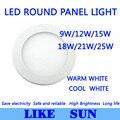 FREE SHIPPING High power Led Panel Light SMD2835 9W 12W 15W 18W 21W 25W 2200LM 110-240V Ceiling Bulb lamp spotlight down light