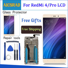 AICSRAD 5.0LCD For XIAOMI Redmi 4 Pro Display Touch Screen with Frame For XIAOMI Redmi 4 Prime LCD Display Replacement