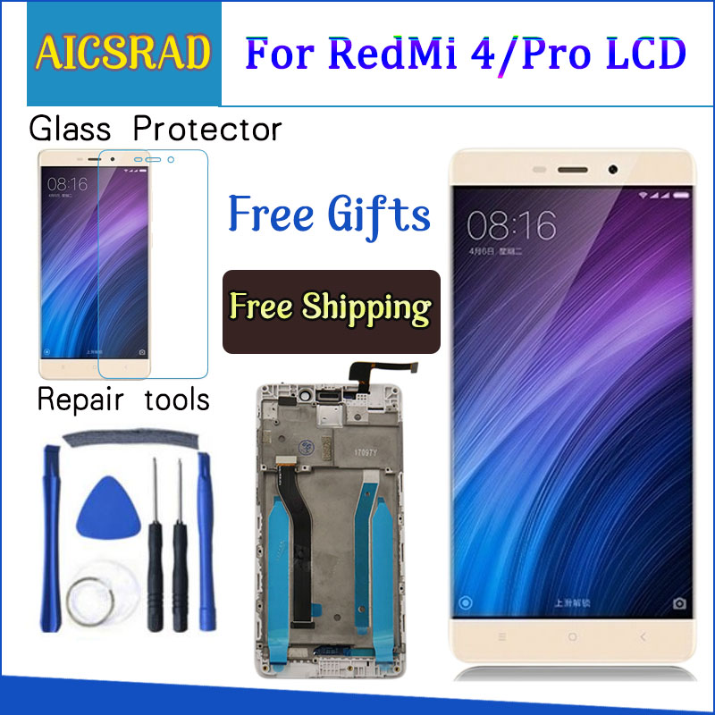 AICSRAD 5.0''LCD For <font><b>XIAOMI</b></font> <font><b>Redmi</b></font> <font><b>4</b></font> <font><b>Pro</b></font> Display <font><b>Touch</b></font> <font><b>Screen</b></font> with Frame For <font><b>XIAOMI</b></font> <font><b>Redmi</b></font> <font><b>4</b></font> Prime LCD Display Replacement image