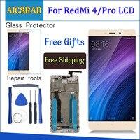 Aicsrad 5.0 lcd lcd lcd para xiaomi redmi 4 pro display de tela toque com moldura para xiaomi redmi 4 prime display lcd substituição