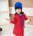 Girls dresses red Long sleeve kid dress party dress 100% cotton lovely children clothing roupa infantil feminina vestidos bebe