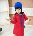 Vestidos de meninas vermelhas manga Longa festa vestido de criança vestido 100% algodão filhos adoráveis roupas roupa infantil feminina vestidos bebe