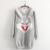 2017 outono e inverno de Lã grossa O-pescoço hoodies coelho dos desenhos animados menina doce e bonito hoodies do pulôver estilo preppy japonês