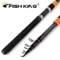 FISH KING Telescopic feeder rod 3.0m 3.3M 3.6M 3.9m With 2 Rod Tips C.W 120g Extra Heavy Fishing Feeder Rods60% Carbon