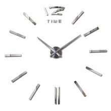 Специальное предложение 3d большие акриловые зеркальные настенные часы краткое diy кварцевые часы натюрморт часы украшение дома наклейки для гостиной