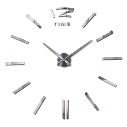 Offerta speciale 3d big acrilico specchio orologio da parete breve orologio al quarzo still life orologi fai da te decorazione della casa soggiorno adesivi