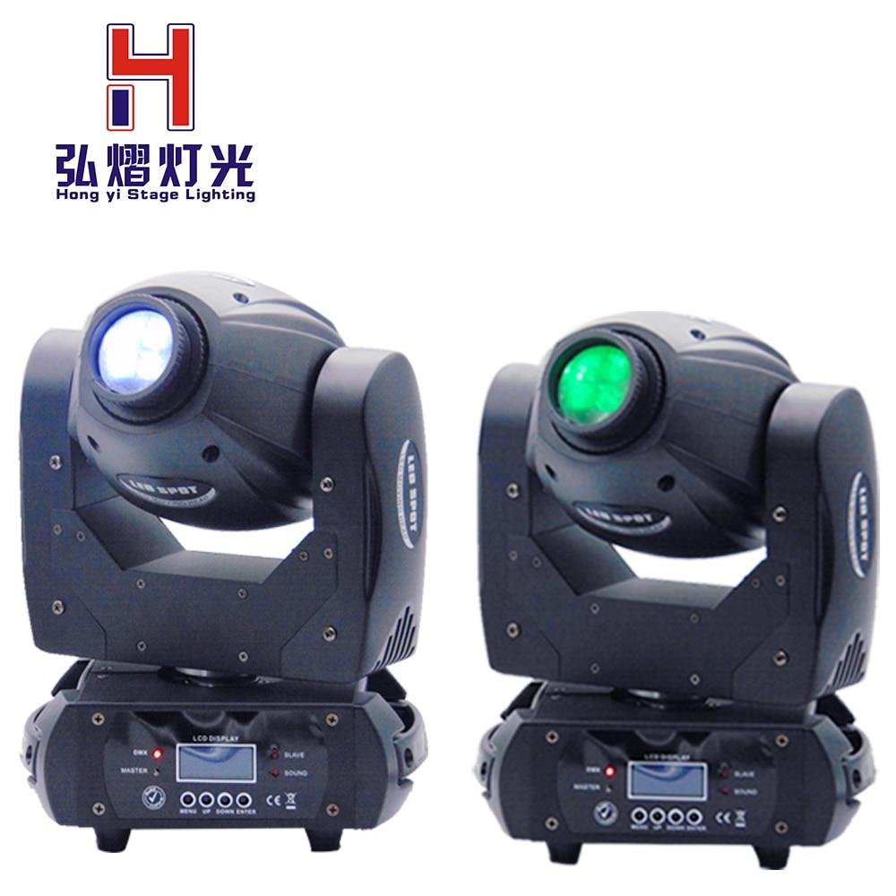 2 pcs/lot Spot light DMX 512 10/14 canaux se concentrent 3-facette prisme Led Dj Disco 60 W LED mini moving head lumière professionnel