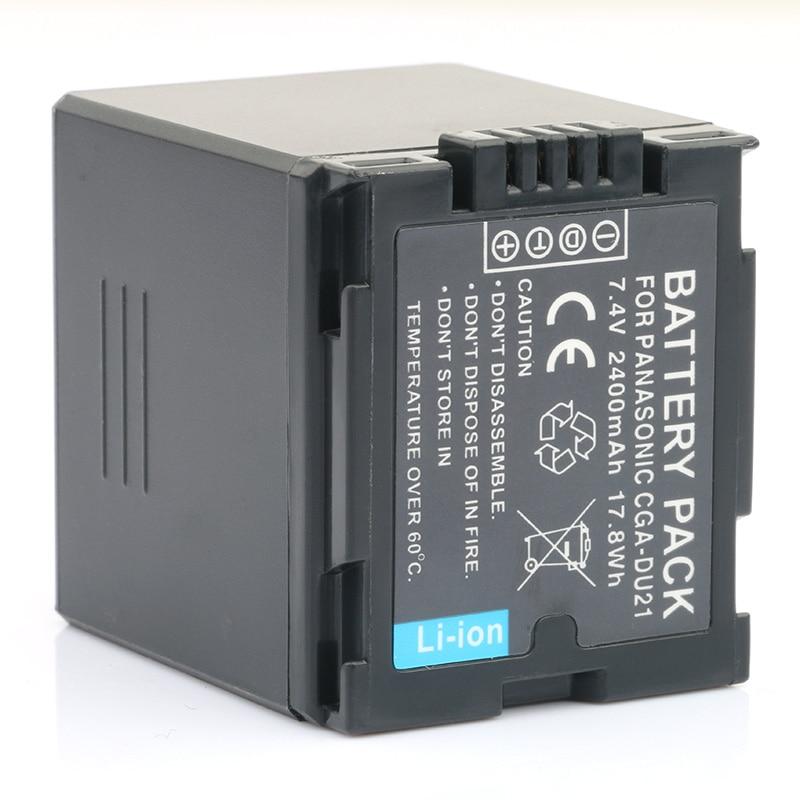LANFULANG 7 4V 2400mAh CGA DU21 Hi quality Replacement Battery for Panasonic CGA DU12 CGA DU14 SDR H258 SDR H200 NV GS21 in Digital Batteries from Consumer Electronics