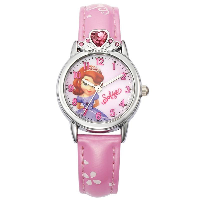 100% Genuine Disney Brand Watches Frozen Sophia Minnie Watch Fashion Luxury Watch Men Girl Wrist Disney Watch Red Pink Attractive Designs; Watches