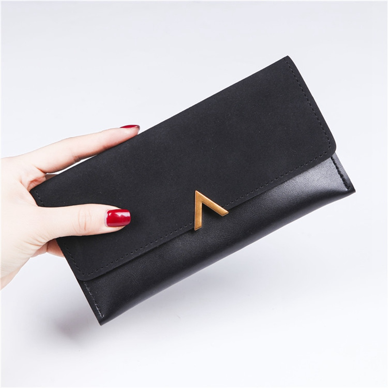 NIBESSER Casual Women Wallet Long Purse Letter V Portable Money Pouch Bank Card Holder Solid Carte Porte Wallet For Credit Cards deli card holder stationery for business credit card name id card holder case wallet box porte carte portable card box