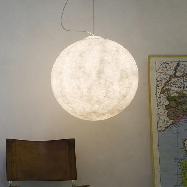 Modern Pendant Lights Atmosphere Moon Hanging Lamp Round Ball Home Lighting For Kitchen Light