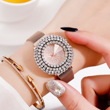 JBAILI Luxury Rose Gold Magnet Watch Crystal Korean Version Simple Fashion Trend Waterproof Network Red Noise 2019 New