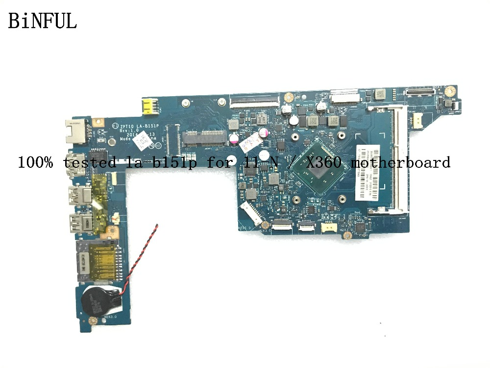 BiNFUL 100 SUPER TESTED ZPT10 LA B151P LAPTOP MOTHERBOARD FOR HP 11 N X360 on board