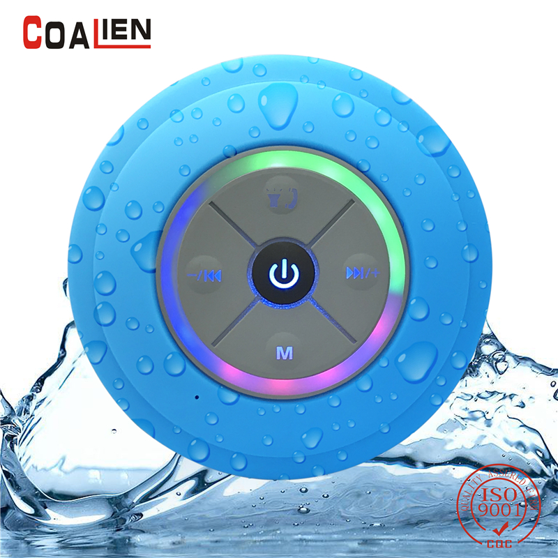 COALIEN Waterproof Bluetooth Speakers Mini Wireless Portable Hands-free TF Card FM Radio Subwoofer Audio LED Music Speakers getihu portable mini bluetooth speakers wireless hands free led speaker tf usb fm sound music for iphone x samsung mobile phone