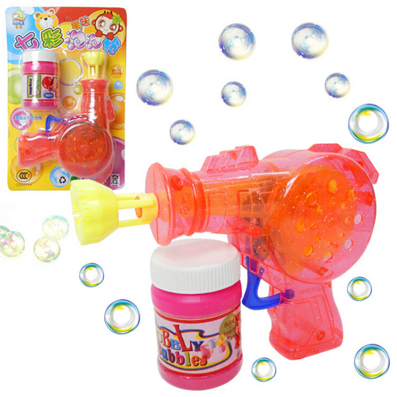 Diy child kid outdoor toys bubble gun home soap bubble for How to make bubbles liquid at home
