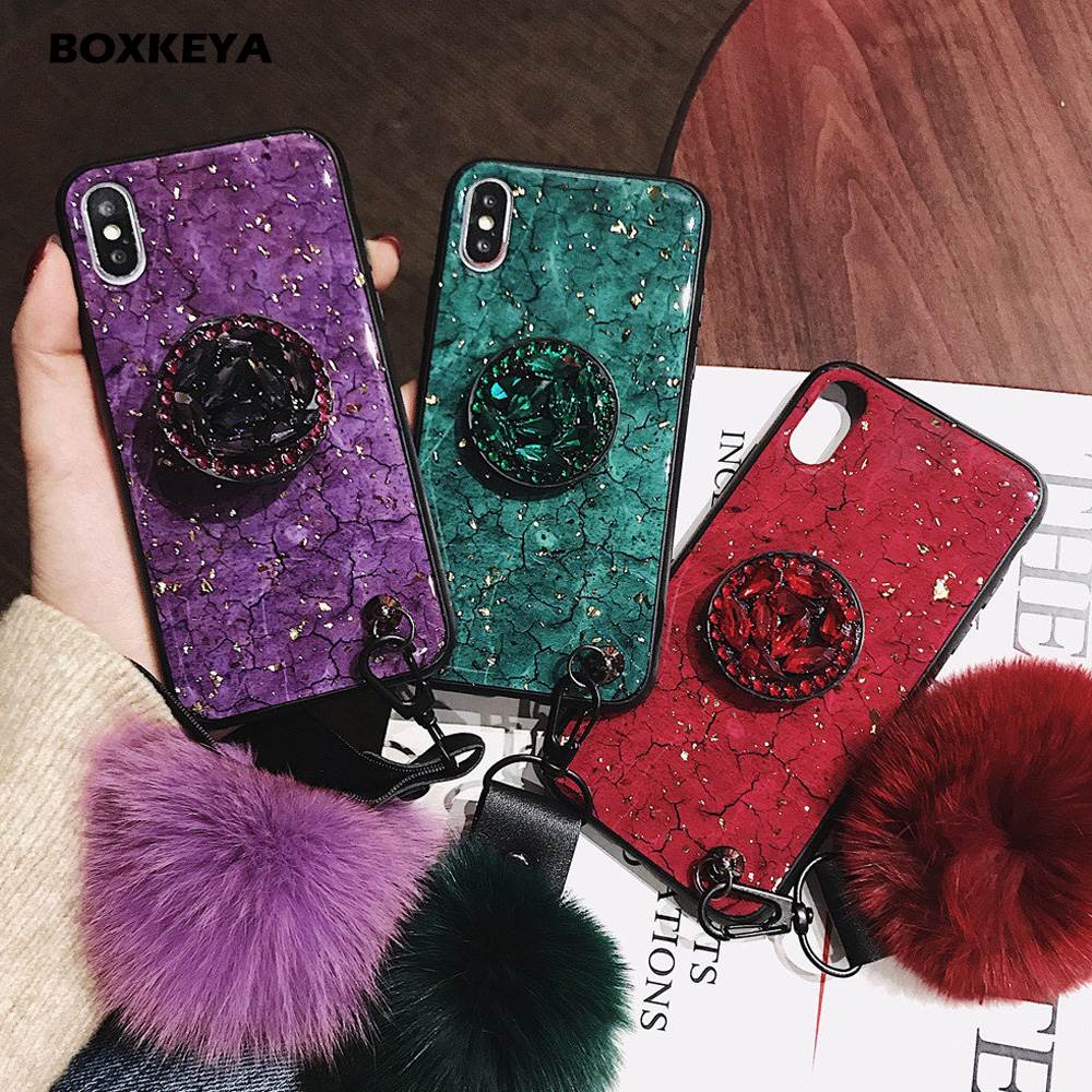 Luxury Gold Foil Bling Marble Crack Phone Case For iPhone 7 7Plus 8 8Plus X XS MAX XR Glitter Phone Case For iPhone 6 6s Plus