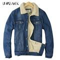 Uwback 2017 nova jaqueta de inverno da marca homem jeans engrosse windbreak outwear casacos quentes femme jeans plus size jaquetas homens ta092