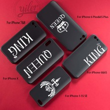 New Arrivals Coque Fashion King Queen for iPhone XS Max Case XR Cases 7 5S SE 6 6S 7Plus 8 X