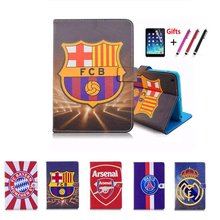 Case For iPad 9.7 Pro Football giants pattern Tablet Soft apple 2018/iPad air 12 Cover Funda Stand Shell