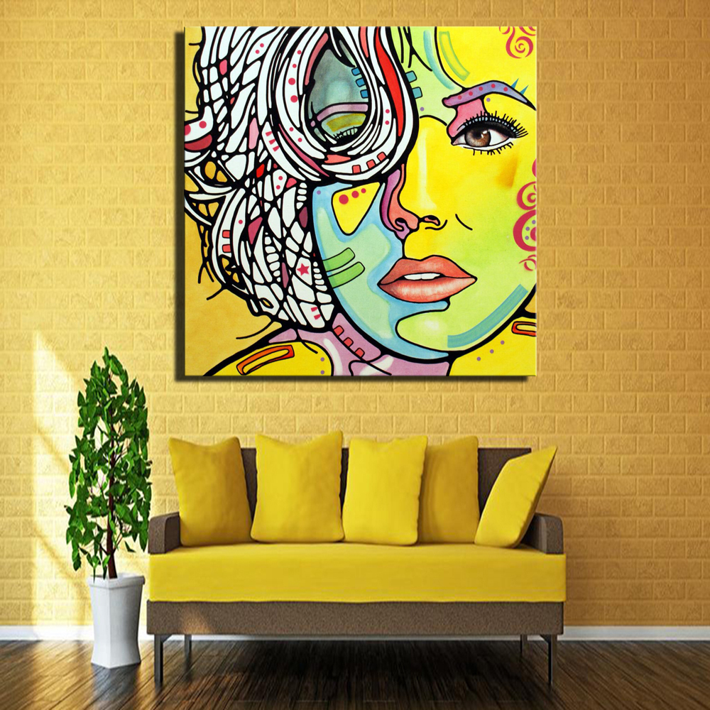 Awesome Girl Canvas Wall Art Gift - Wall Art Collections ...