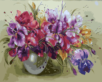Frameless Picture DIY Painting By Numbers Of Flower Home Decor For Living Room Wall Art Painting