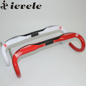ievele Ultralight Full Carbon Fibre Road Handlebar 31.8mm Bent Bar Handlebar External Wiring Road Bicycle Hand Bar 400/420/440mm