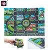 מפת כבישים עירונית משחק כיף לילדים 10Pcs מכוניות & 1Pcs מפת 83*58CM  1