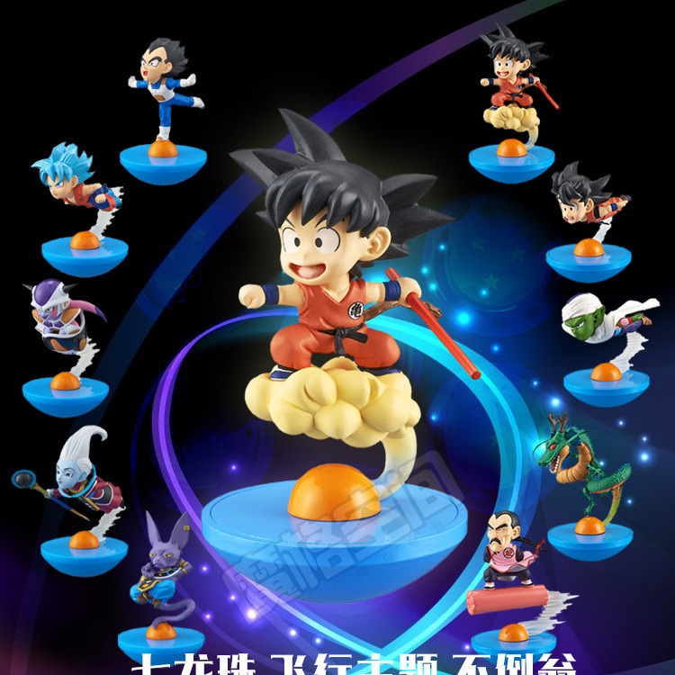 5 pcs/set Dragon Ball Z Resurre F action figures super Goku Vegeta Piccolo Frieza High-quality tumbler anime toys free shipping