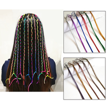 2pcs/lot Hair Spiral Braiders Colorful Beads Rolling Rope Twister Accessories For Girls Partuy Beauty Tinsel