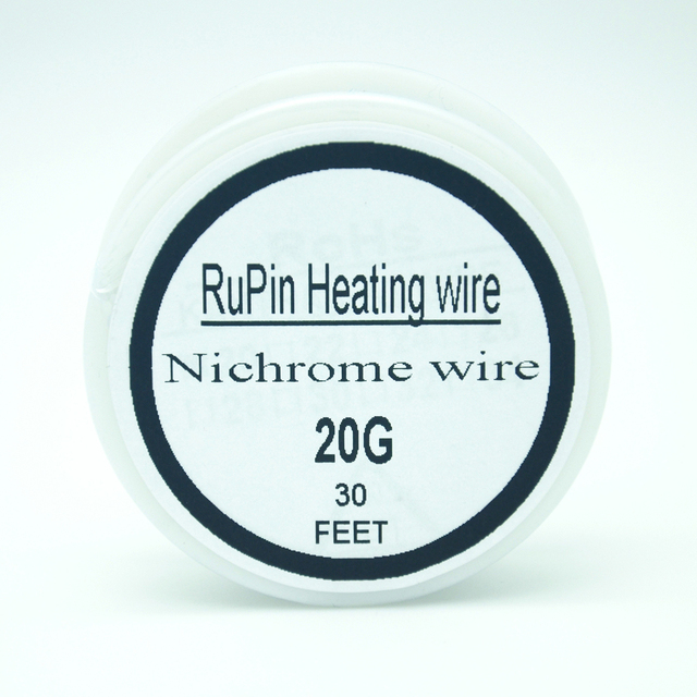 RuPin Heating Wrie Nichrome wire 20 Gauge 30 FT 0.8mm Resistance ...