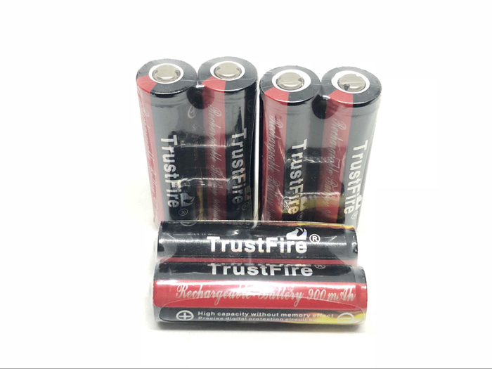 10pcs/lot TrustFire 14500 AA 900mAh 3.7V Protected Li-ion Battery Rechargeable Batteries Free Shipping