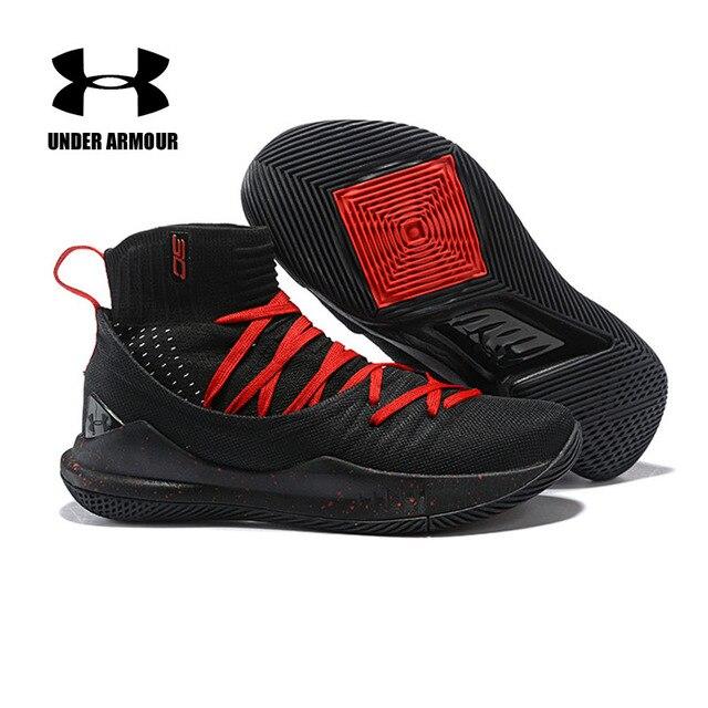 Under Armour Sepatu Basket Curry 5 Kaus Kaki Sepatu Tenis Basket Zapatillas Hombre Deportiva Luar Ruangan Bantal Pelatihan Sepatu