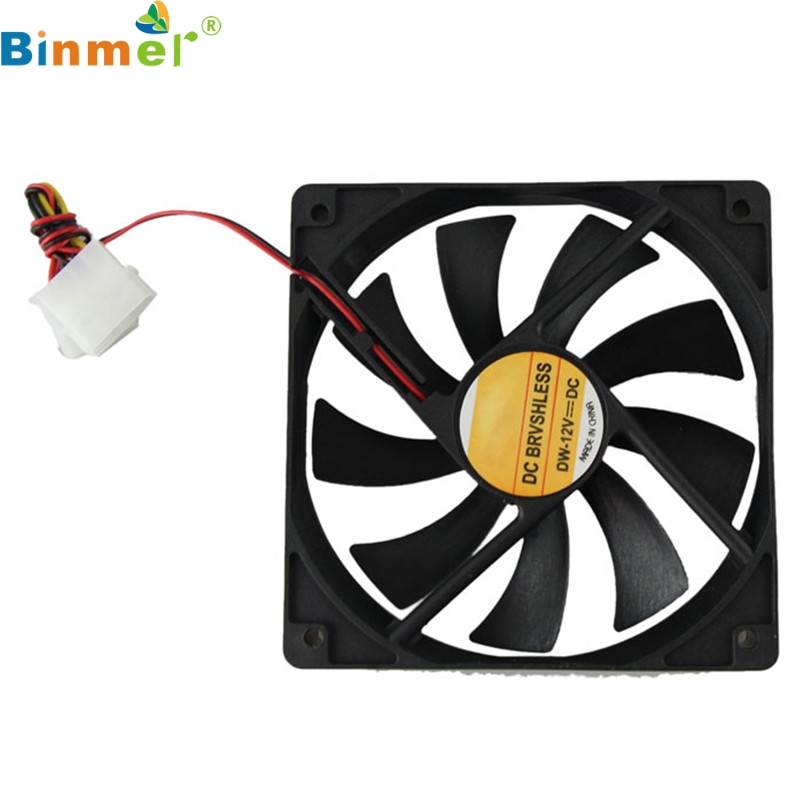 Computer Cooler Case 12V 12CM 120MM PC CPU Cooling Cooler Fan 0418 drop shipping nidec d12e 12ps2 01b 12038 120mm 12cm dc 12v 1 70a 12 cooling fan server inverter case cooler
