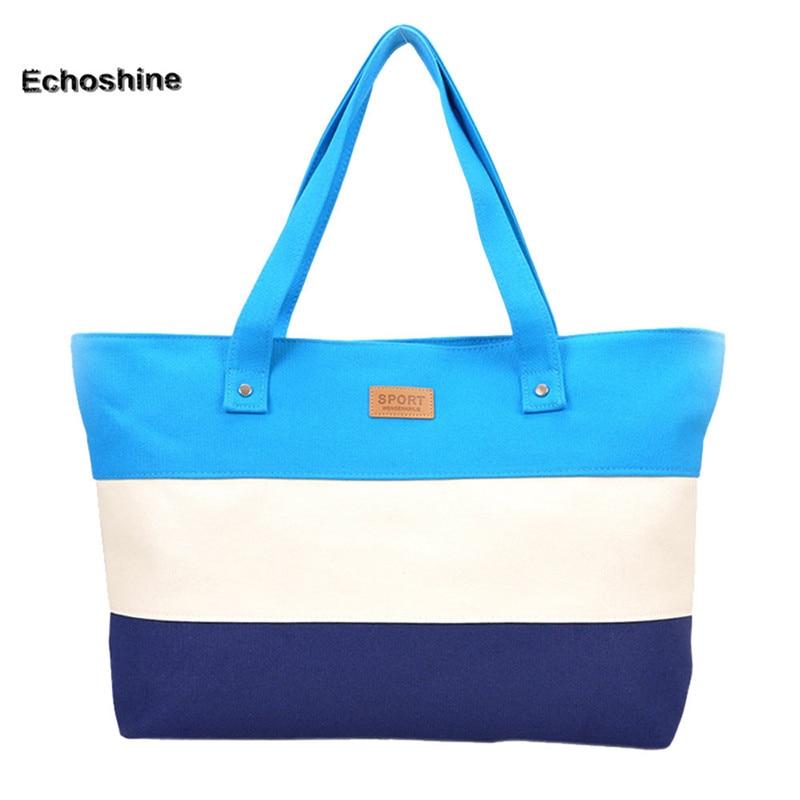 Hot Sale Canvas Women Beach Bag Fashion Color Printing Lady Girls Handbags Shoulder Bag Casual Bolsa Shopping Bags Big A1000