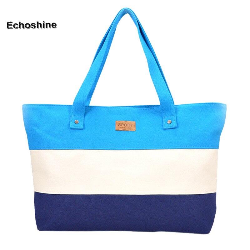 Venta caliente de la lona de las mujeres bolso de playa moda de impresión de color señora Niñas mano Bolsas hombro casual bolsa Bolsas de la compra grande a1000
