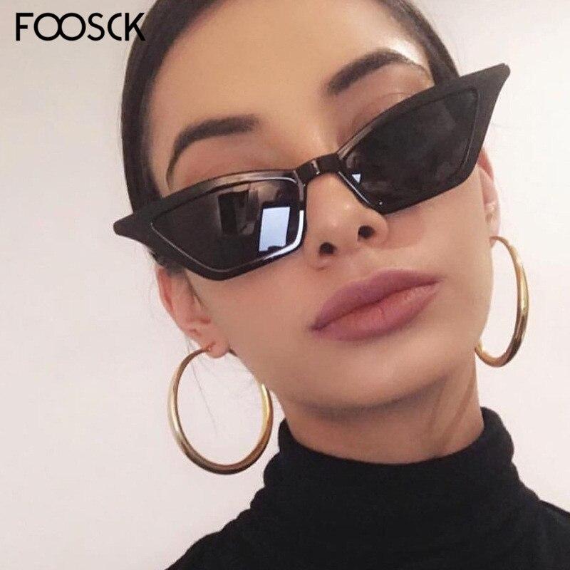 FOOSCK 2018 Sexy Ladies Square Sunglasses Women Brand Designer Hot Sell Sun Glasses  Vintage Eyewear UV400
