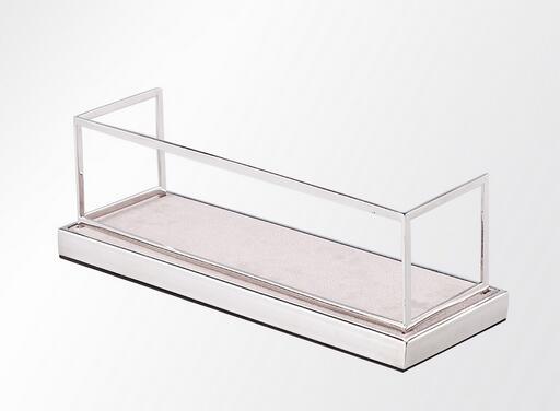 Stainless steel metal wallet display rack desktop stand store display fixture wallet storage tray standing