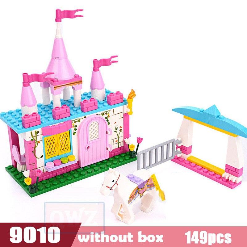 Legoes город девушка друзья большой сад вилла модель строительные блоки кирпич техника Playmobil игрушки для детей Подарки - Цвет: 9010 without box